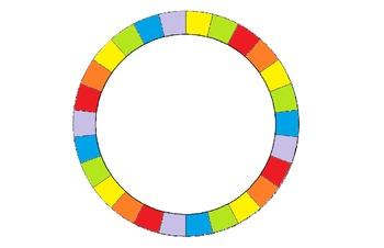 Job Wheel 26 Students - Rainbow Color