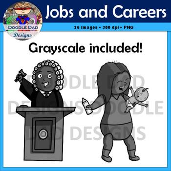 Job and Career Clip Art (Doctor, Judge, Police, Chef, Scientist, Programmer)