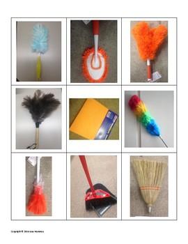 dusting tools. Job And Life Skills: Dusting Tools File Folder Activities