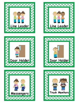 Job cards for every classroom