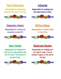 Job chart task cards with description