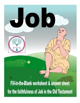 Job in the Old Testament Worksheet Freebie