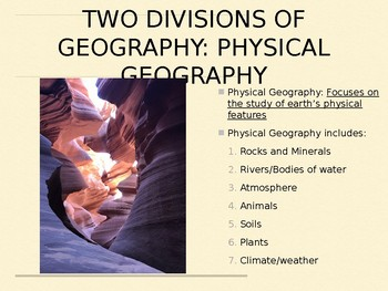 Job of a geographer