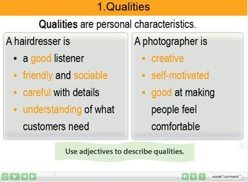 Job skills and qualities Interactive Resource 2