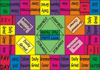 Jobardy Business English Board Game (Color Background Double Sided Printing)