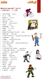 Jobs (الوظائف) Reference Sheet