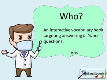 Jobs: Answering 'who' questions interactive vocabulary book