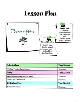 Jobs Benefits Lesson