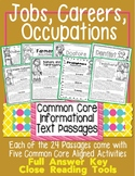 Jobs Careers Occupations Close Reading Passages Common Core Aligned TDQs & More