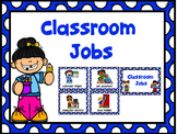 Jobs Chart -Blue Polka Dot & Numbers 1-30
