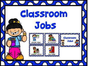Jobs Chart -Blue Polka Dot & Numbers 1-30
