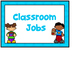 Jobs Chart -Bright Blue & Numbers 1-30
