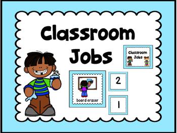 Jobs Chart -Light Blue  & Numbers 1-30