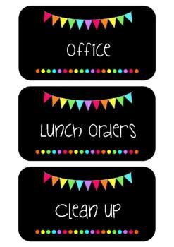 Jobs Chart - Rainbow Flags