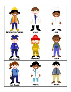 Jobs / Community Helpers Tic-Tac-Toe / Bingo - Cut & Paste
