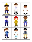 Jobs / Community Helpers Tic-Tac-Toe / Bingo - Cut & Paste