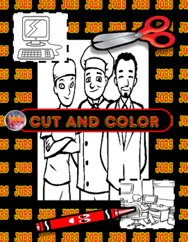 Jobs Cut, Color, Read, Write Mini Flashcards