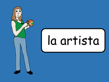 Las Profesiones Vocab Presentation, Games, Worksheets and Activity Book