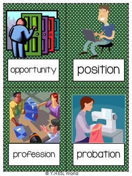 Jobs & Employment {44 Flashcards & Games} ESL Adults & Grades 4-6