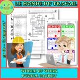 Jobs FRENCH FSL les métiers et le monde du travail PUZZLE PACKET
