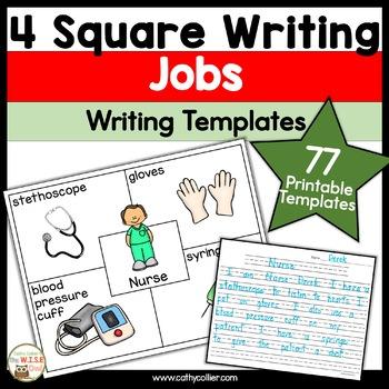 4 Square Writing:  Jobs