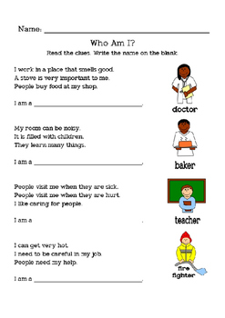 Jobs: Goods vs. Services - Worksheets