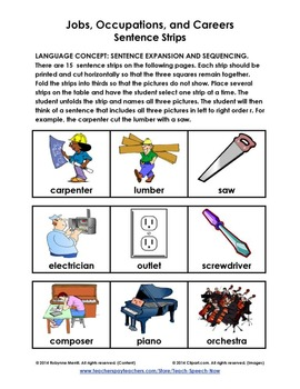 Jobs, Occupations, and Careers – A Labor Day Language Unit