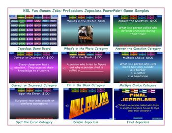 Jobs-Professions Jeopardy PowerPoint Game