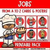 Jobs Themed Alphabet Flaschards   ESL Vocabulary   ABC Ord