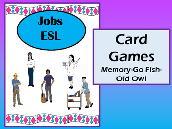 Jobs Vocabulary Card Games – ESL Jobs Vocabulary