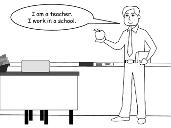 Jobs Vocabulary- ESL Emergent Reader/Coloring Book