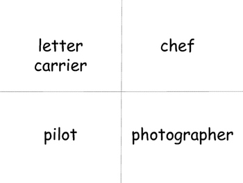 Jobs Vocabulary ESL Word Wall – Jobs Vocabulary in English