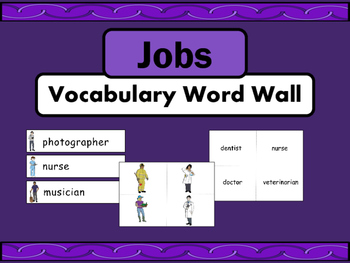 Jobs Vocabulary ESL Word Wall – Jobs Vocabulary in English