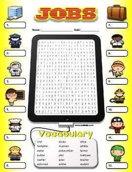 Jobs Vocabulary / Identify Activity