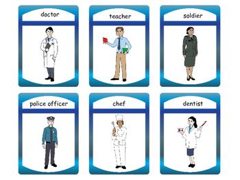 Jobs Vocabulary Spoons ESL Card Game