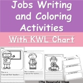Jobs and Occupations Writing and Coloring Activities with