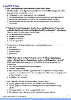 Jobs and Careers - Doctors - Grade 10