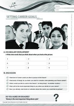 Jobs and Careers - Setting Career Goals - Grade 9