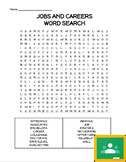 Jobs and Careers Word Search - Special Education High School