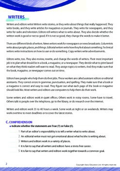Jobs and Careers - Writers and Editors - Grade 12