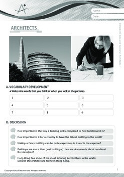 Jobs and Careers - Architects - Grade 9