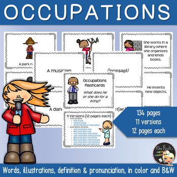 Jobs and Occupations ESL Flashcards (w/Pronunciation)