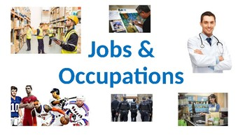 Jobs and Occupations Powerpoint, printable. Community