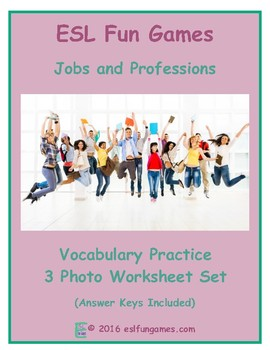 Jobs and Professions 3 Photo Worksheet Set