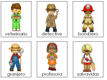 Jobs and Professions Sentence Picture Match in Spanish