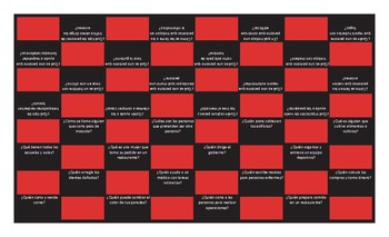 Jobs and Professions Spanish Checker Board Game