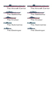 Jobs and Professions Spanish Legal Size Photo Battleship Game