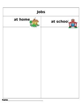 Jobs at home and at school