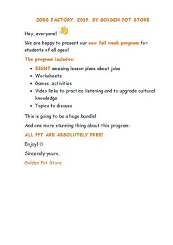Jobs factory for young learners