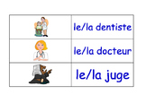 Jobs in French Flash Cards